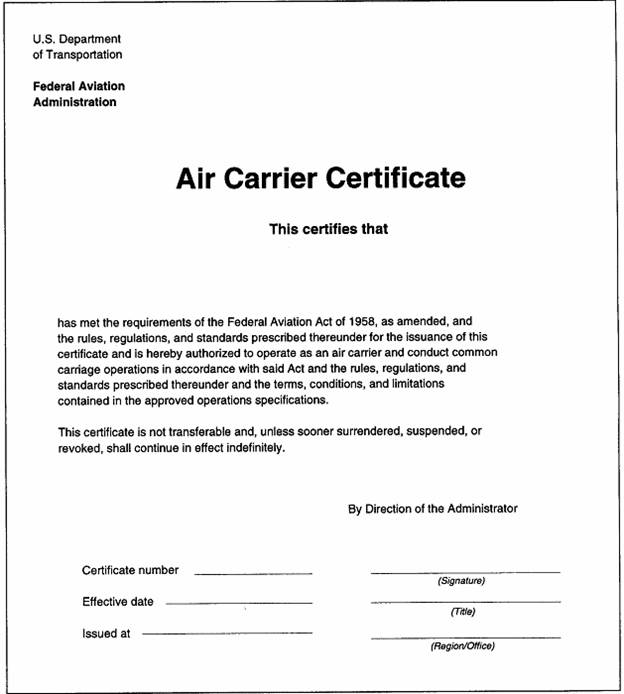 Onehandbooknewt faa form 8430 18 air carrier certificate yelopaper Images