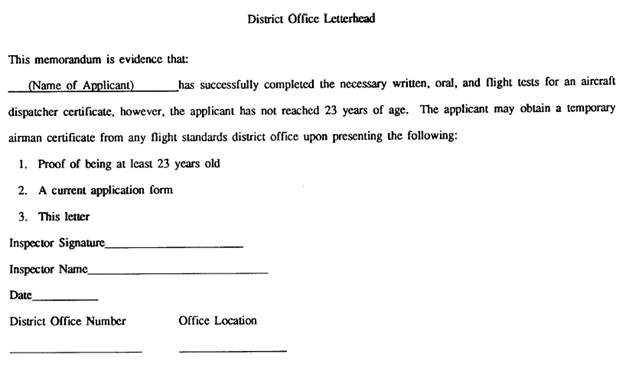 Fsims document viewer sample letter of aeronautical competency successful applicant for aircraft yadclub Gallery