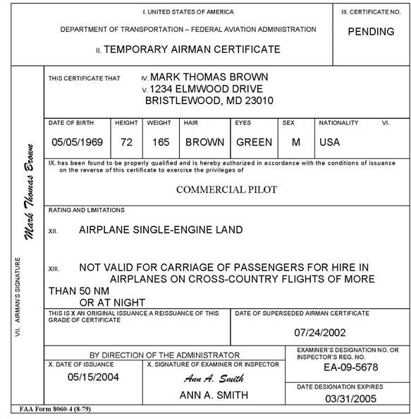 Section 3. Issue a Student Pilot Certificate